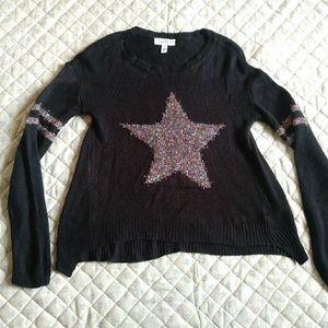 Jessica Simpson light weight black sweater medium